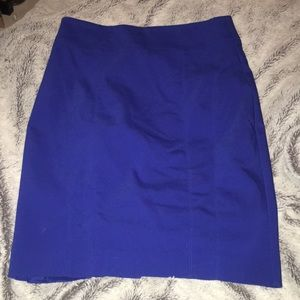 Express Royal Blue Pencil Skirt Size 2